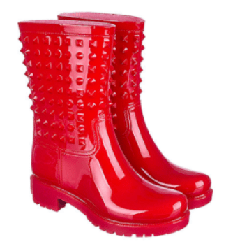 This is one of the cutest ankle rain boots for women!