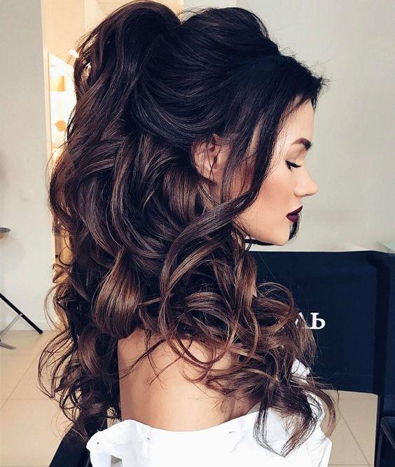15 Half Up Half Down Hairstyles For Long Hair , Society19