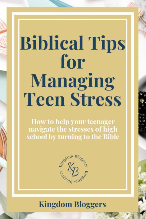 teenage stress symptoms