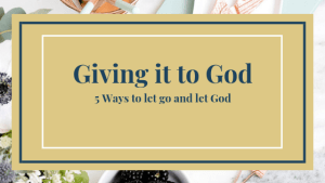 giving it to god