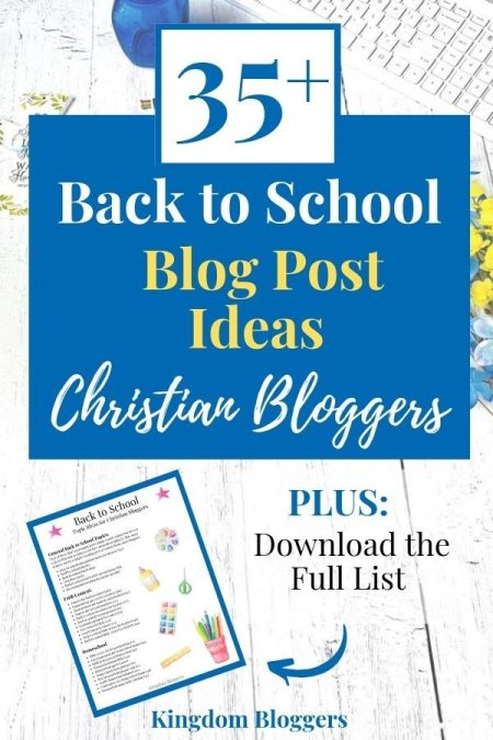 back to school blog post ideas