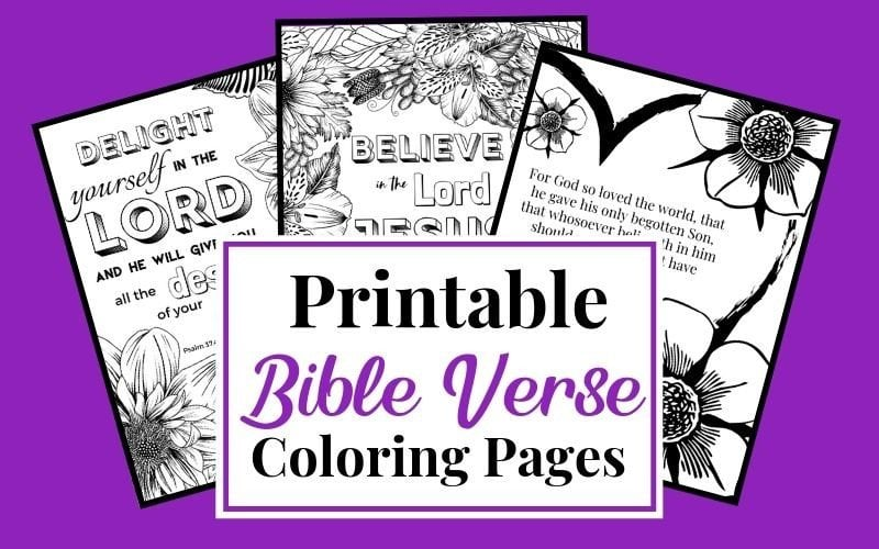 11 Bible verses to teach kids (with printables to color) | House Mix | 500x800