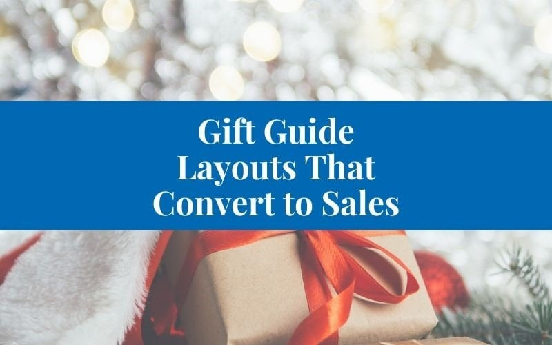 gift guide layout