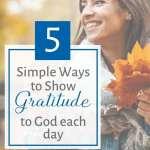 showing gratitude to god