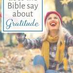 what does the bible say about gratitude
