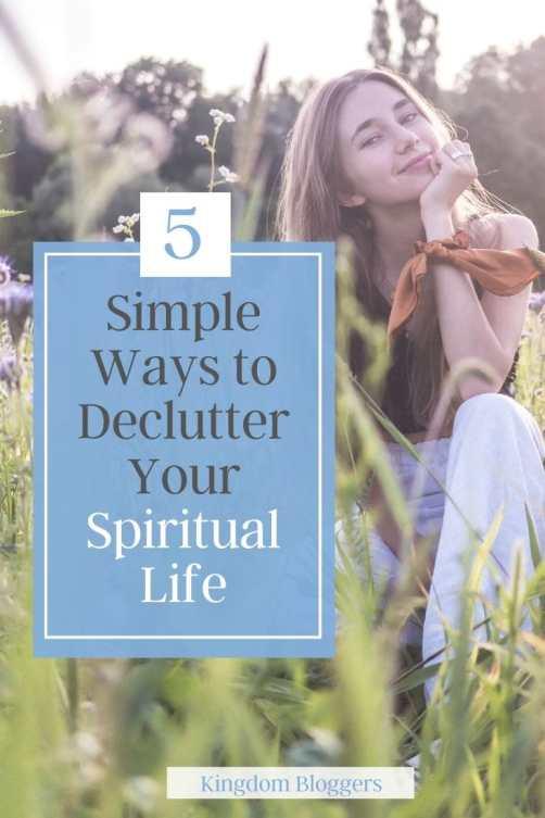 declutter your spiritual life