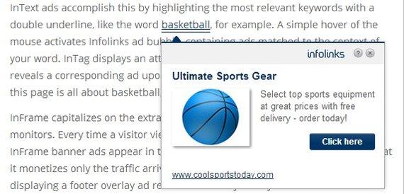 Intext ads