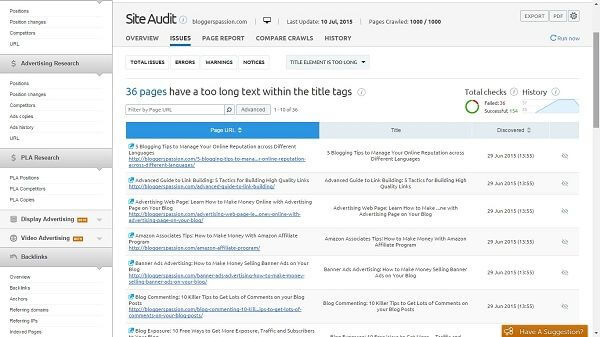 lengthy title tag errors