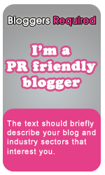 I'm a PR friendly blogger badge