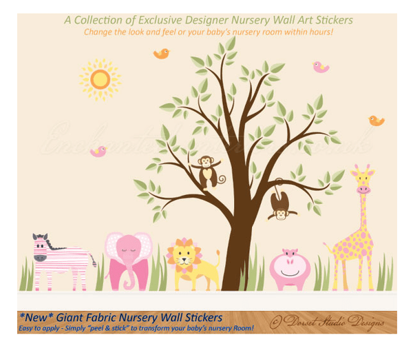 Blogger outreach assignment: Giant Fabric Nursery Wall Sticker Blog Review