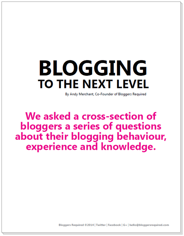 Blogging to the next level image