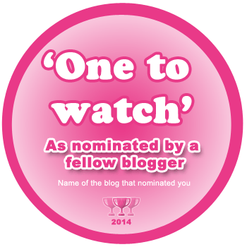 Nominated blogger badge
