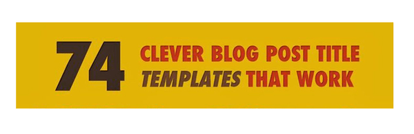 Infographic - Blog post title template