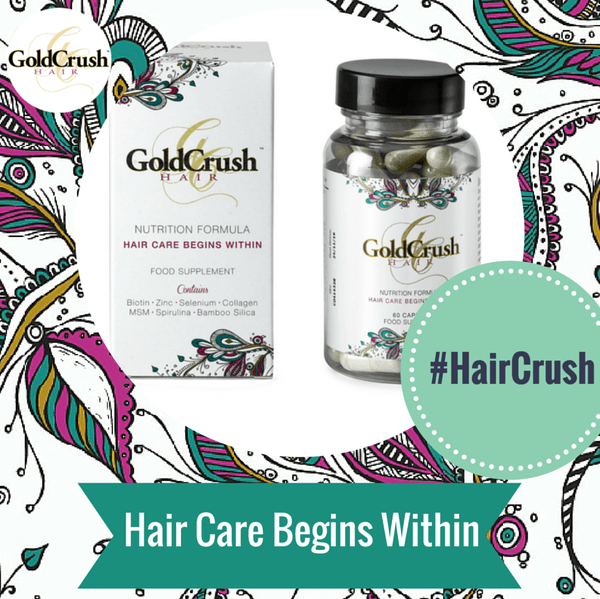 Blogging assignment: GoldCrush Hair Nutrition Formula - All Natural Hair Care Vitamins - Promoting healthy growing hair! (UK bloggers)