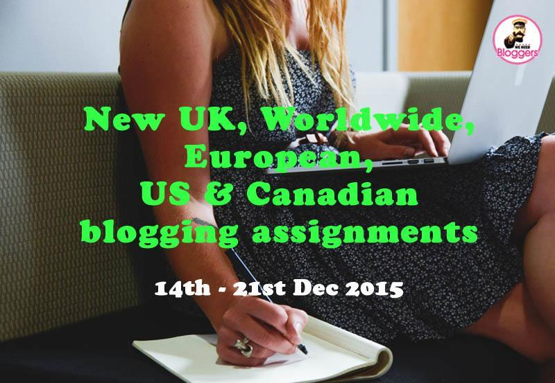 Weekly blogging assignments