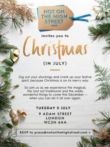 Christmas in July 2016 - blogger workshops - London