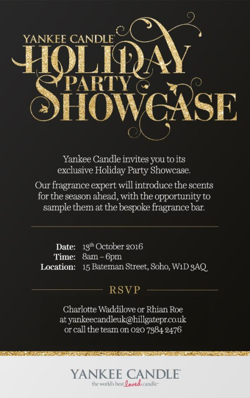 Blogging assignment: Yankee Candle Holiday Party Showcase! (Soho, London)