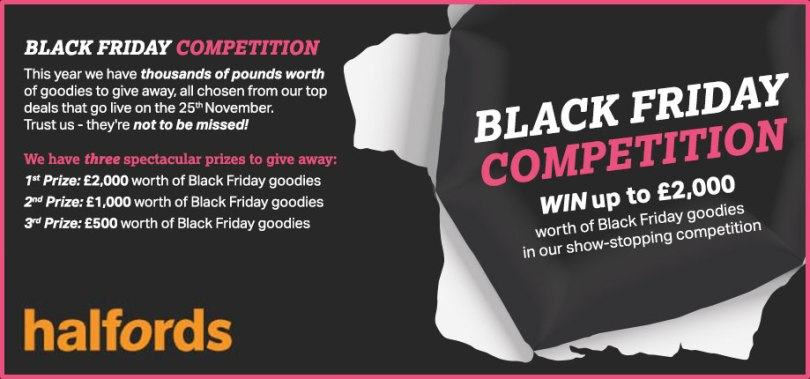 Blogging assignment: Post about our Black Friday competition (UK bloggers)