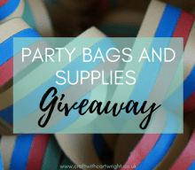 Blogger @craftcartwright UK Giveaway: win £30 to spend on party bags and supplies – Closes 10/06/2017