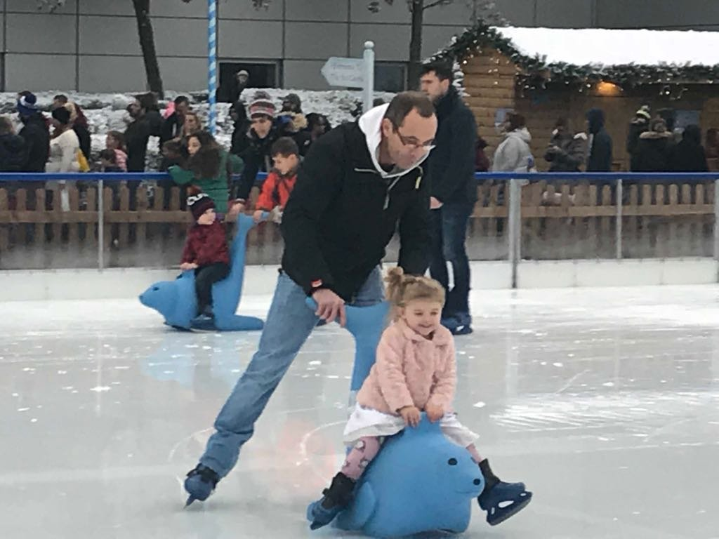 Shaniah on the ice