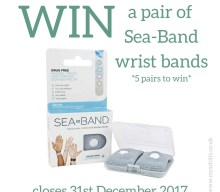 Blogger @mrsshilts UK Giveaway: Win one of five pairs of @SeaBandNausea Wristbands – Closes 12/31/2017