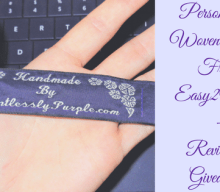 Blogger @lentlesslypurpl UK Giveaway: Personalised @easy2name Woven Labels Giveaway – Closes 2nd April 2018