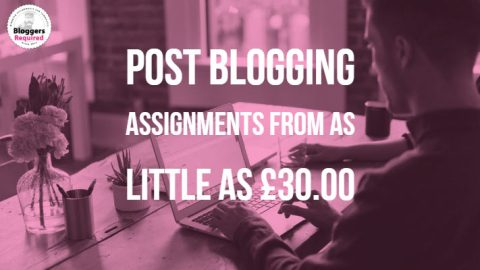 Post blogging assignments from as little as £30.00