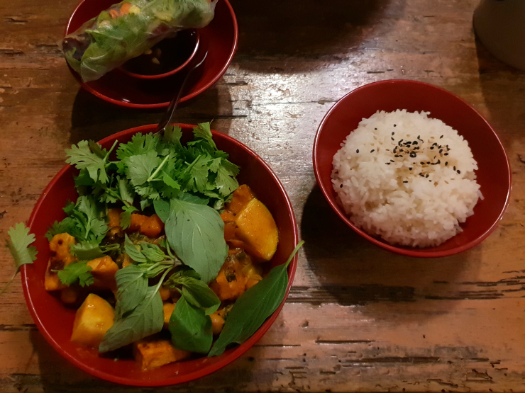 Chickpea and sweet potato curry at Fei Scho in Munich