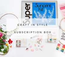 US blogging assignment: DIY Bloggers USA & Beyond. Craft in Style Craft Supply Subscription Box. Closes 5th Feb 2019
