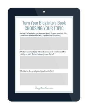 Free Worksheet Bundle Download! Take the first steps to turn your blog into a book!