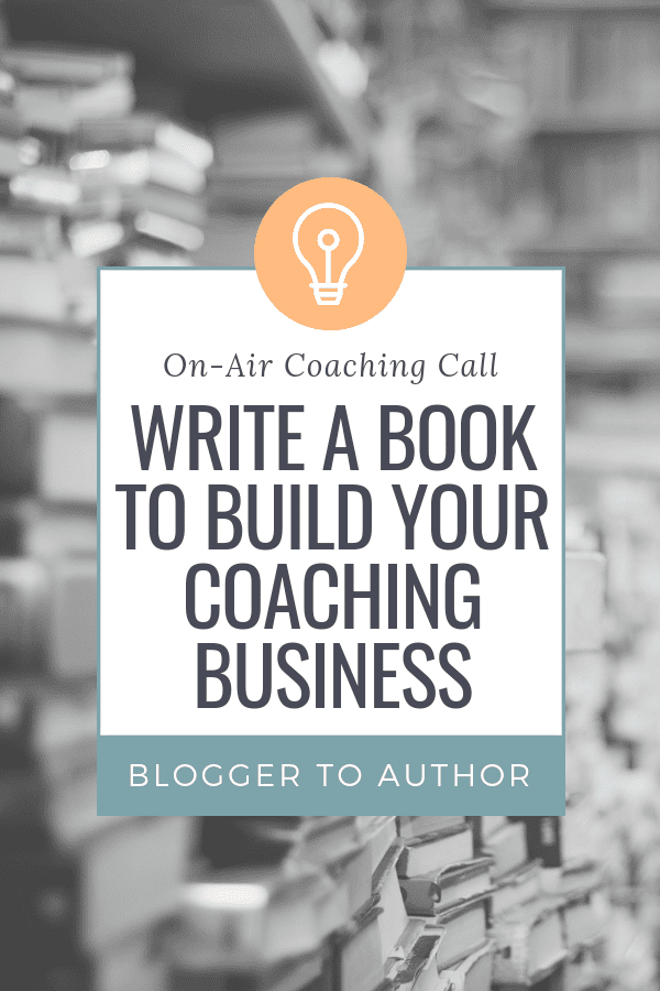How to plan and write a book to build your coaching business! Listen as I help a holistic health coach plan a business-building book to help her spread her message and get more clients.