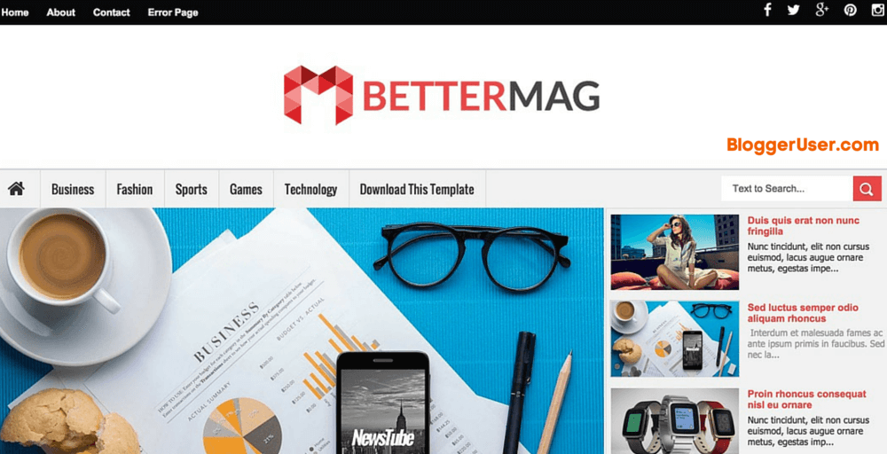 better mag responsive blogger template blogger user