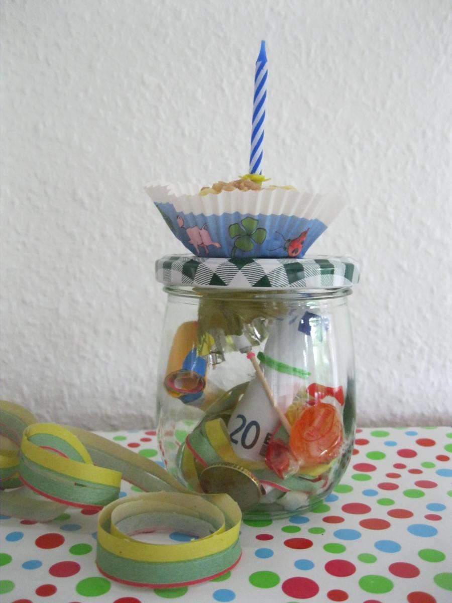 Geburtstag im Glas  Geschenkt