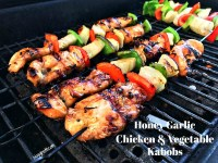 Honey Garlic Chicken and Vegetable Kabobs