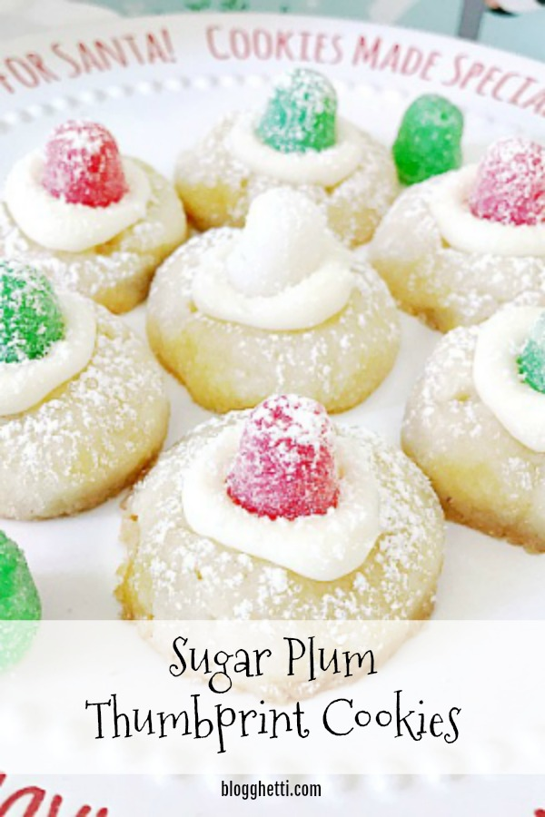 Sugar Plum Thumbprint Cookies - pin