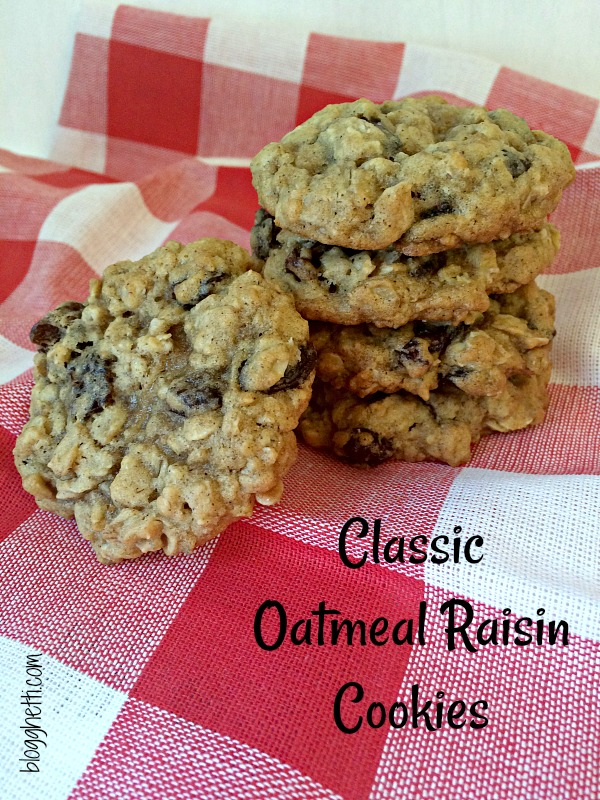 These Oatmeal Raisin Cookies are soft and chewy and have been a part of my life since childhood.  Nothing fancy or complicated, just pure homemade goodness - a classic cookie.