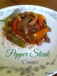 This easy crock pot Pepper Steak is a delicious combination of tender steak strips, fire-roasted tomatoes, and peppers cooked in an Asian-inspired sauce.