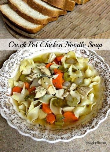 Crock pot Chicken Noodle Soup is perfect during the cold weather; it's the perfect comfort food. So simple to make, wonderfully delicious, and healthy for you.