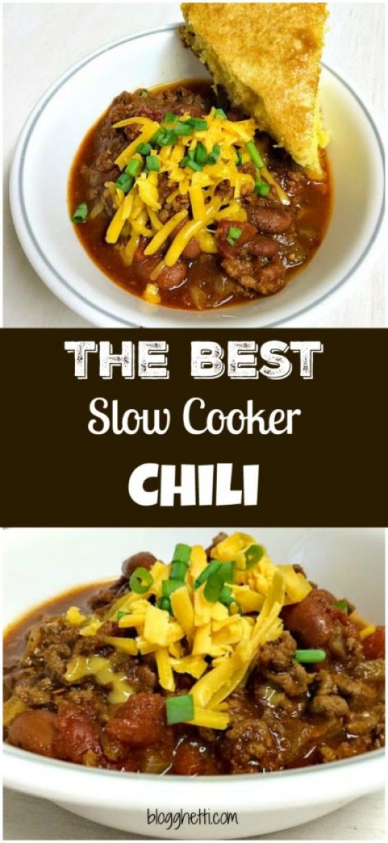The Best Slow Cooker Chili ever! Made with a homemade chili seasoning that easily adaptable for every heat level from mild to hotter than hot.