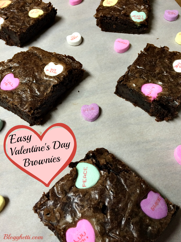 Easy Valentine's Day Brownies | Blogghetti
