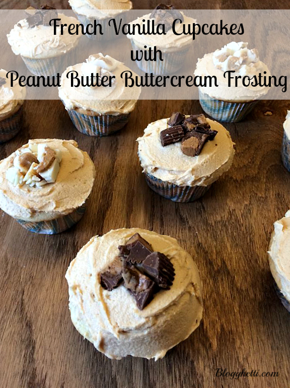 French Vanilla Cupcakes with PB Frosting