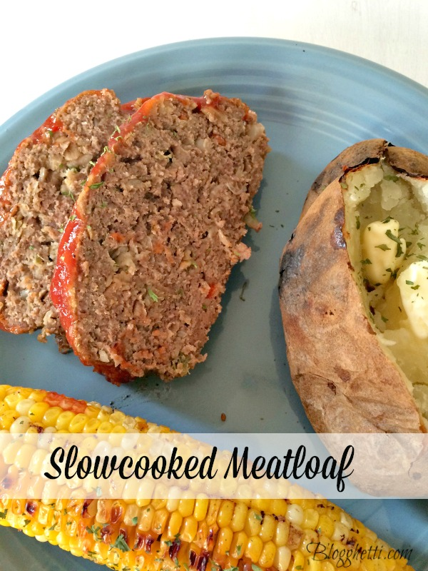 This Slow Cooked Meatloaf will be the only one you will ever need! It's perfectly moist, flavorful, and super easy to make in the crock pot.