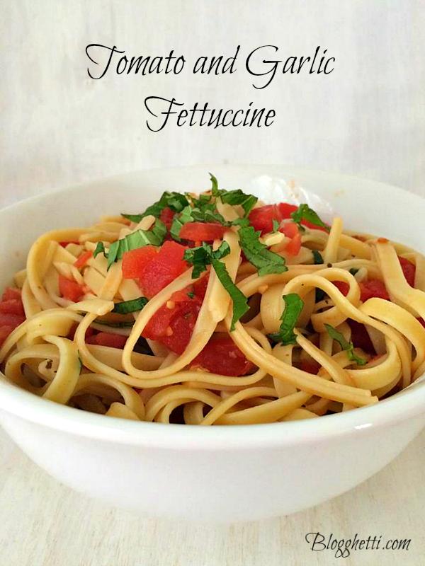 Tomato-Garlic Fettuccine