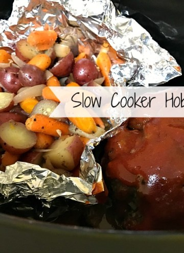 Slow Cooker Hobo-Dinners is an easy solution to getting a entire meal on the table with minimal prep. The vegetables turn out tender-crisp and the meatloaf is moist and flavorful from the garlic and seasonings along with the tangy-sweet sauce on top.