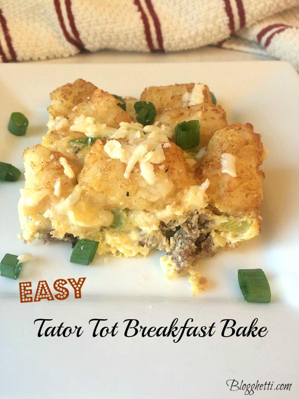 easy tator tot breakfast bake