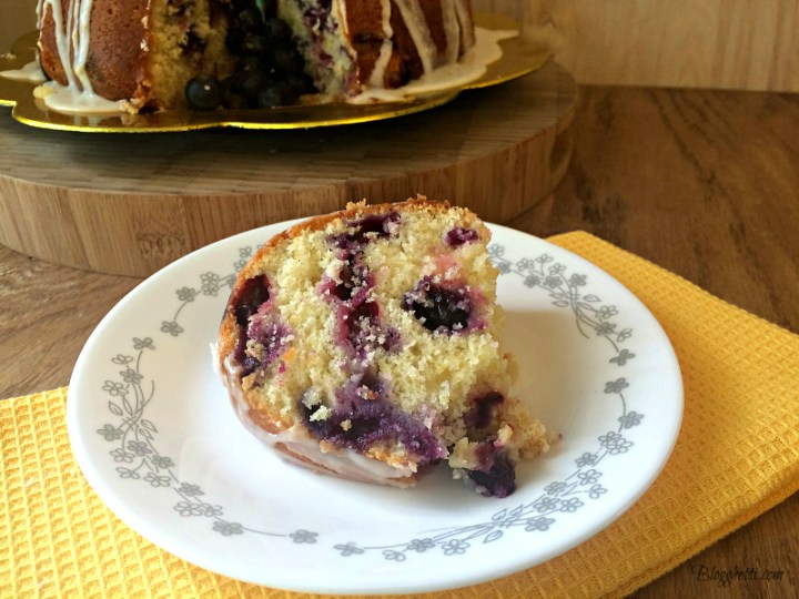 Blueberry Lemon Pound Cake Slice