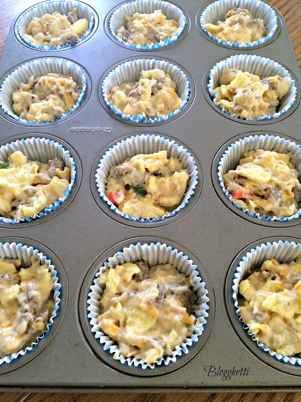 On the go breakfast muffins ready to bake