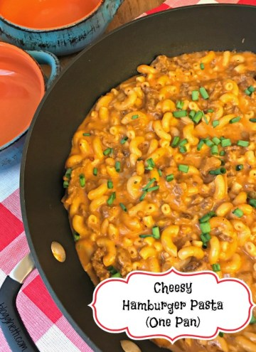 This delicious Cheesy Hamburger Pasta comes together in under 30 minutes with ingredients that you probably already have on hand. If you love the Hamburger Helper type meals, you'll love this skillet meal!