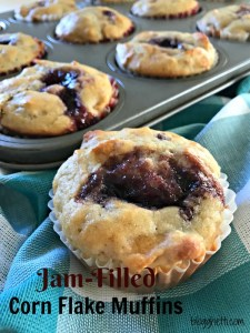 Jam-Filled Corn Flake Muffins