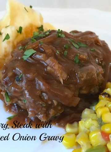 This savory Salisbury Steak with Caramelized Onion Gravy is a made-from-scratch recipe that is pure comfort food heaven. Pour that delicious gravy over mashed potatoes and your taste-buds will thank you.